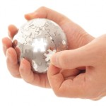Sphere jigsaw in hand